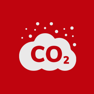 Cloud containg particles of CO2 gas